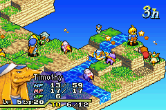 Final Fantasy Tactics Advance - Timothy is cleaning his self in the waterfall - User Screenshot